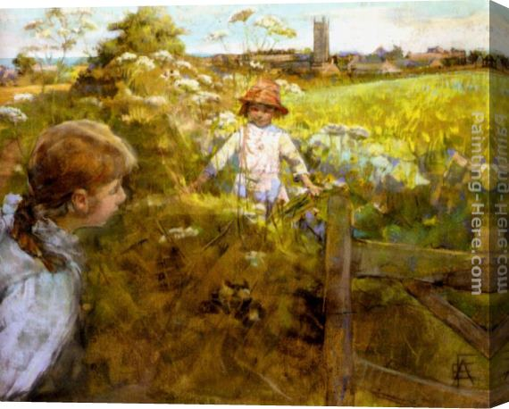 Stanhope Alexander Forbes Hide And Seek Stretched Canvas Painting