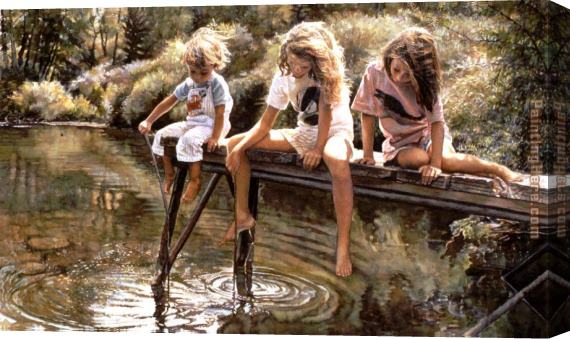 Steve Hanks A World for Our Children Stretched Canvas Painting