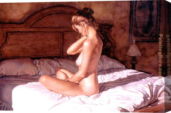 Steve Hanks Casting Her Shadows Stretched Canvas Painting