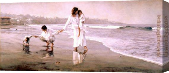 Steve Hanks Holding the Family Together Stretched Canvas Painting