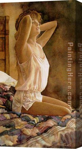 Steve Hanks In Her Dreams Stretched Canvas Painting