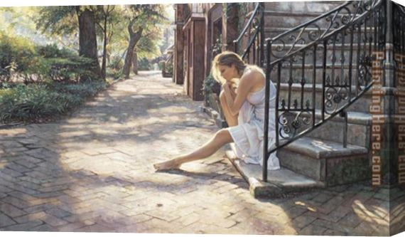 Steve Hanks One Step at a Time Stretched Canvas Painting