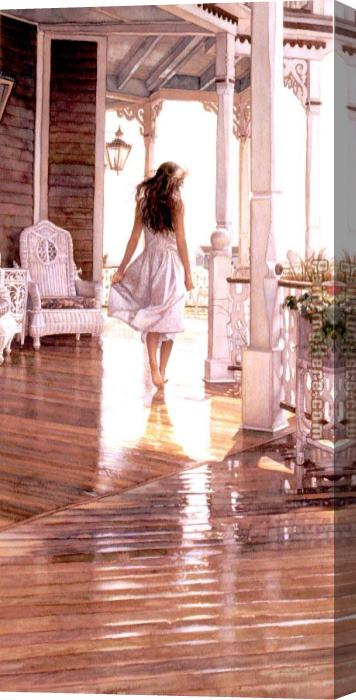 Steve Hanks Sunshine After the Rain Stretched Canvas Painting