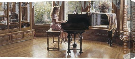Steve Hanks The Music Room Stretched Canvas Painting