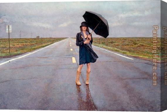 Steve Hanks The Road Less Traveled Stretched Canvas Painting