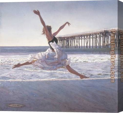 Steve Hanks To Dance Before the Sea And Sky Stretched Canvas Painting