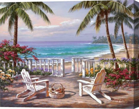 Sung Kim Coastal View Stretched Canvas Painting