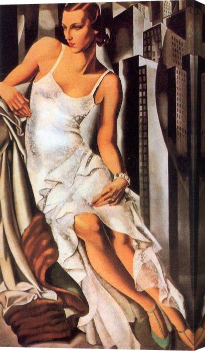 Tamara de Lempicka Sketch of Madame Allan Bott Stretched Canvas Painting