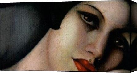 Tamara de Lempicka The dream cropped Stretched Canvas Painting
