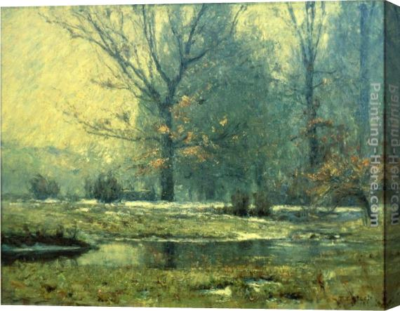 Theodore Clement Steele Creek in Winter Stretched Canvas Painting