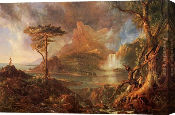 Thomas Cole A Wild Scene Stretched Canvas Painting