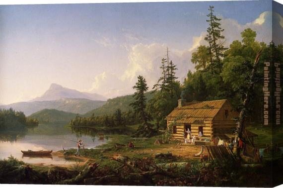 Thomas Cole Home in the Woods Stretched Canvas Painting