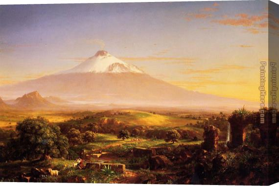 Thomas Cole Mount Etna Stretched Canvas Painting