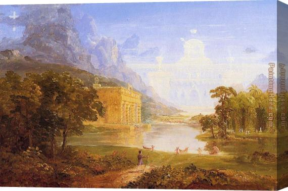 Thomas Cole The Pilgrim of the World on His Journey Stretched Canvas Painting