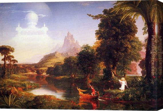 Thomas Cole The Voyage of Life Youth Stretched Canvas Painting