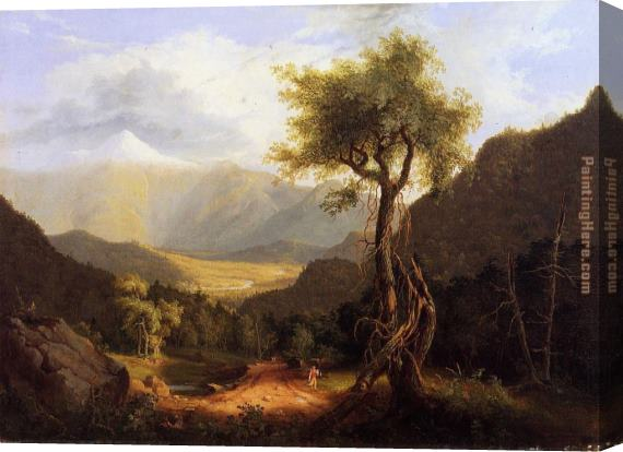 Thomas Cole View in the White Mountains Stretched Canvas Painting