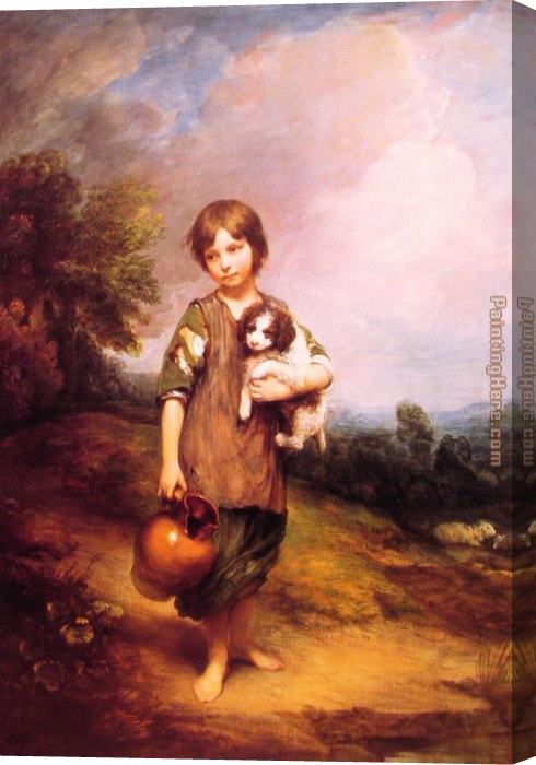 Thomas Gainsborough Cottage Girl with Dog and Pitcher Stretched Canvas Painting