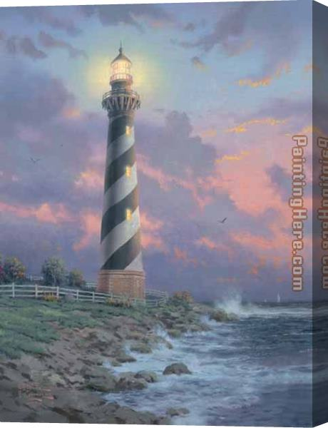 Thomas Kinkade Cape Hatteras Light Stretched Canvas Painting