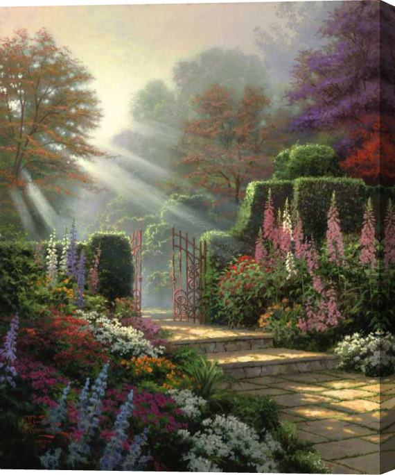 Thomas Kinkade Garden of Grace Stretched Canvas Painting