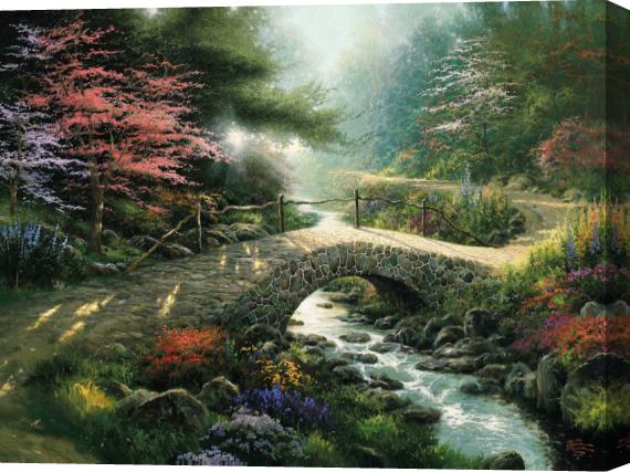 Thomas Kinkade Gone With The Wind Stretched Canvas Painting