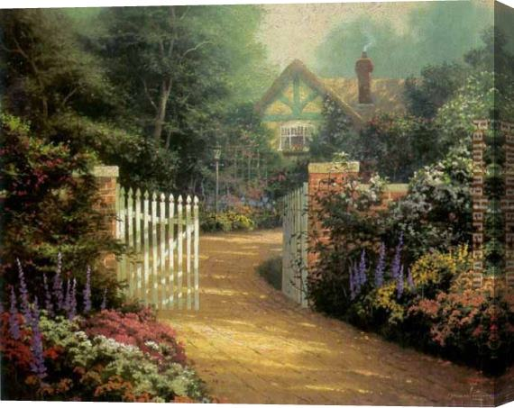 Thomas Kinkade Hidden Cottage Stretched Canvas Painting