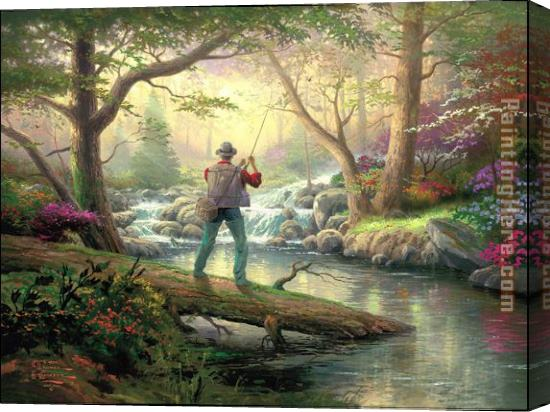Thomas Kinkade It doesn't get much better Stretched Canvas Painting