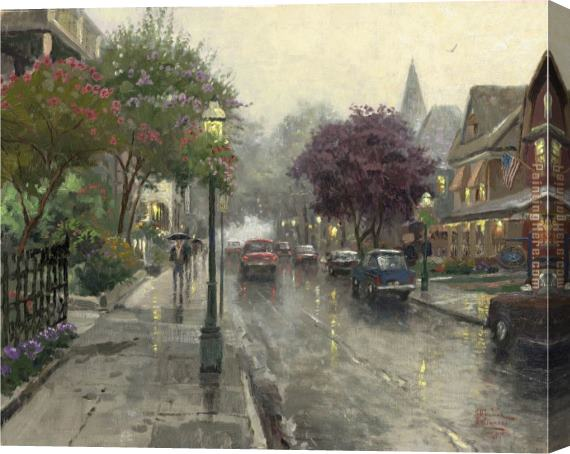 Thomas Kinkade Jackson Street, Cape May Stretched Canvas Painting