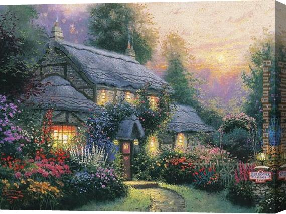 Thomas Kinkade Julianne's cottage Stretched Canvas Painting
