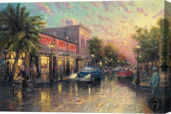Thomas Kinkade Key West Stretched Canvas Painting