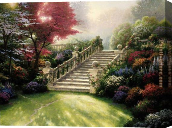 Thomas Kinkade Stairway to Paradise Stretched Canvas Painting