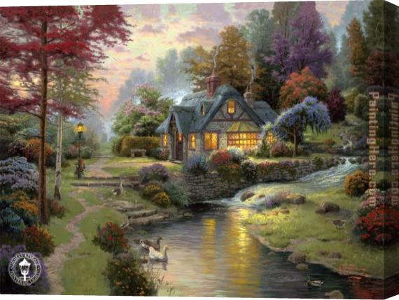 Thomas Kinkade Stillwater Cottage Stretched Canvas Painting