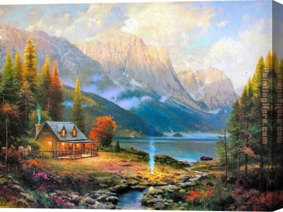 Thomas Kinkade The Beginning of a Perfect Day Stretched Canvas Painting