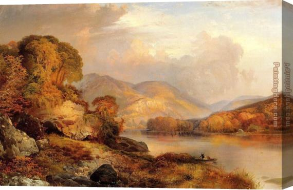 Thomas Moran Autumn Landscape Stretched Canvas Painting