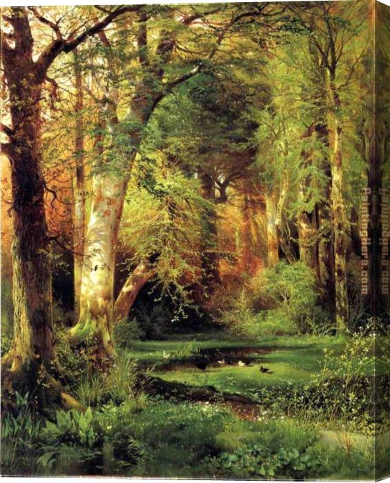 Thomas Moran Forest Scene Stretched Canvas Painting