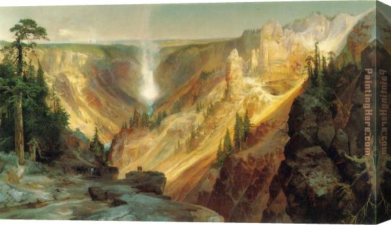Thomas Moran Grand Canyon of the Yellowstone Stretched Canvas Painting