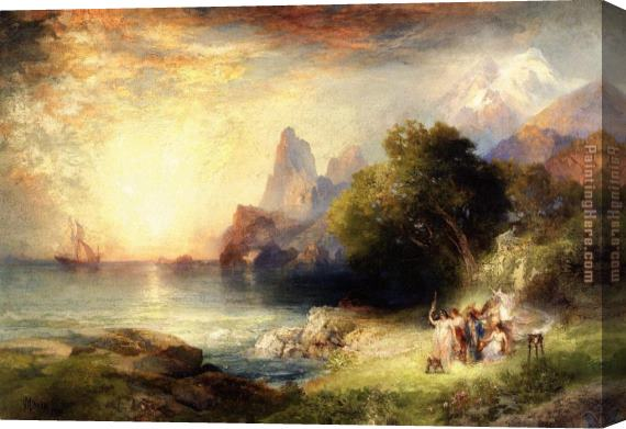 Thomas Moran Ulysses and the Sirens Stretched Canvas Painting