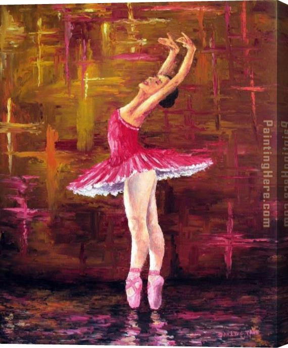 Unknown Artist Ballerina Stretched Canvas Painting