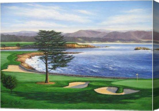 Unknown Artist Pebble Beach Stretched Canvas Painting