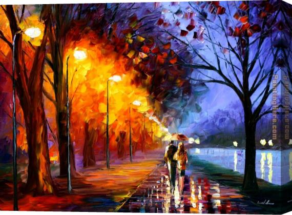 Unknown Artist Romantical Love Stretched Canvas Painting