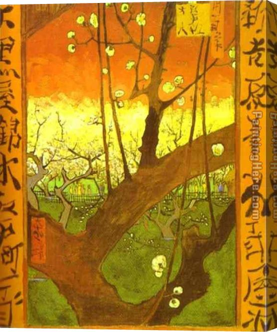 Vincent van Gogh Plum tree in Bloom after Hiroshige Stretched Canvas Painting