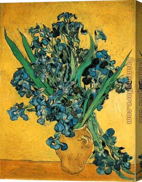 Vincent van Gogh Still Life with Iris Stretched Canvas Painting