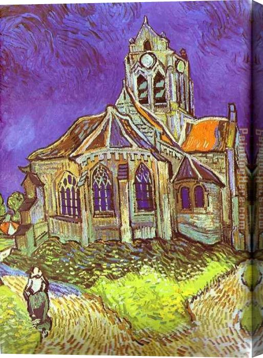 Vincent van Gogh The Church in Auvers Stretched Canvas Painting