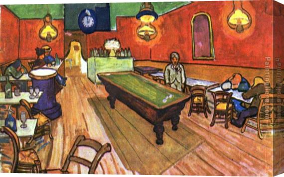 Vincent van Gogh The Night Cafe in the Place Lamartine in Arles Stretched Canvas Painting