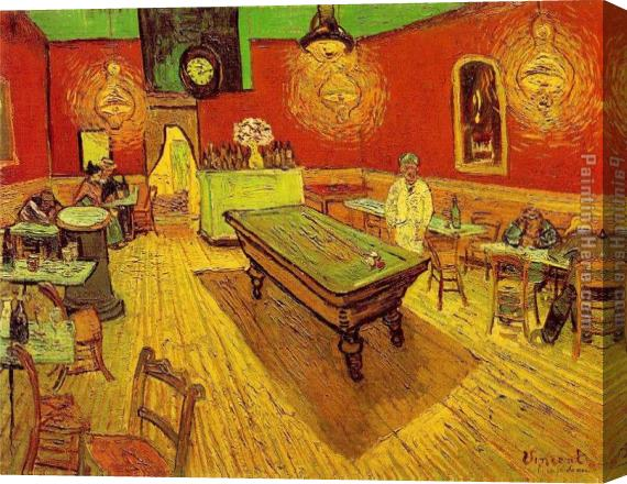 Vincent van Gogh The Night Cafe Stretched Canvas Painting