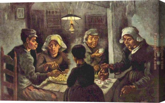 Vincent van Gogh The potato eaters Stretched Canvas Painting