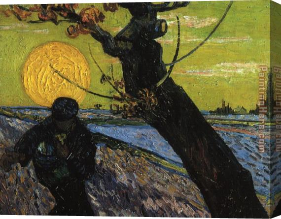 Vincent van Gogh The Sower Stretched Canvas Painting