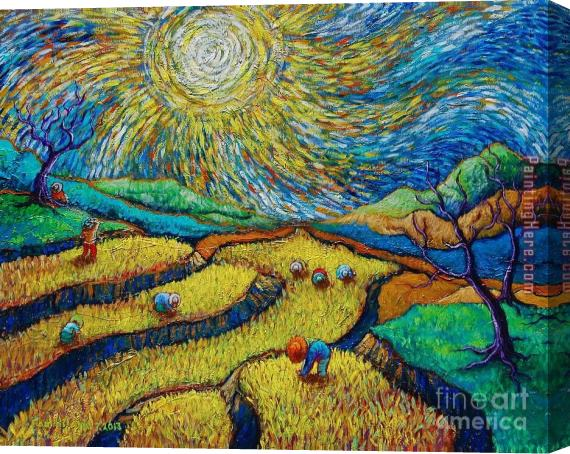 Vincent van Gogh Toil Today Dream Tonight Stretched Canvas Painting