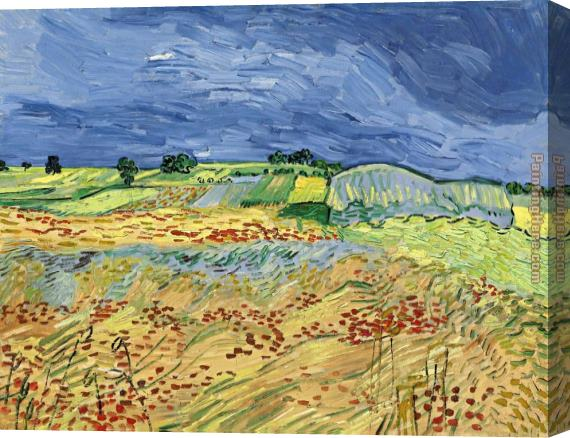 Vincent van Gogh Wheat Fields Stretched Canvas Painting