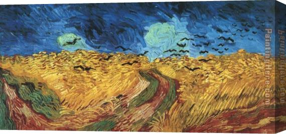Vincent van Gogh Wheatfield with Crows Stretched Canvas Painting