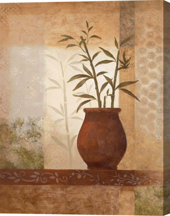 Vivian Flasch Bamboo Shadow II Stretched Canvas Painting